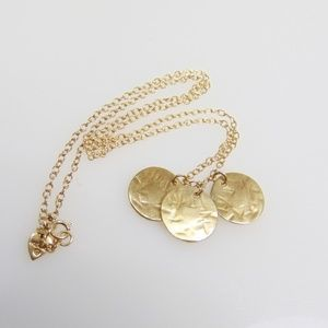 Me & Ro 10KT Yellow Gold 3 Round Medallion Necklac